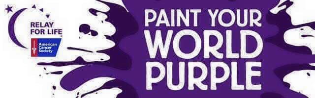 Relay For Life Paint Your World Purple Spiritual Awakening